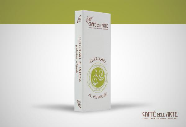 cioccolato di Modica al pistacchio - caffè dell'arte Modica