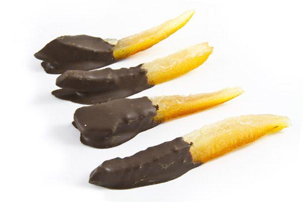filetti d'arancia con cioccolato - caffè dell'arte Modica